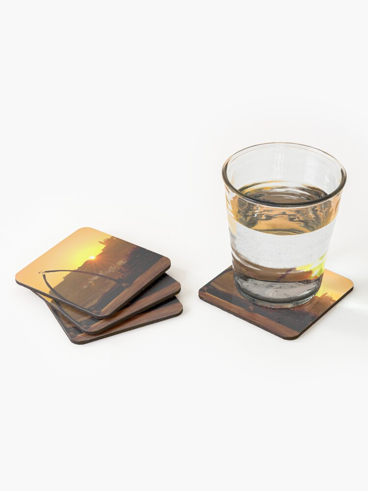 Alternate view of Beautiful Golden Sunrise in Whitby  Coasters (Set of 4)