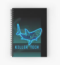 Killer Tech - Circuit board Shark Spiral Notebook