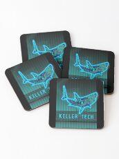 Killer Tech - Circuit board Shark Coasters