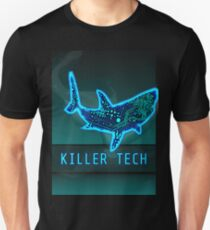 Killer Tech - Circuit board Shark Slim Fit T-Shirt