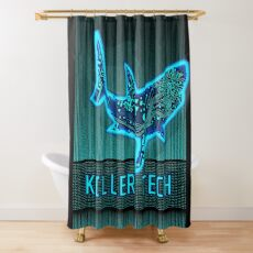 Killer Tech - Circuit board Shark Shower Curtain