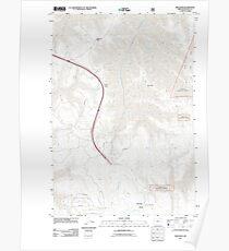 USGS Topo Map Oregon Meacham 20110822 TM Poster