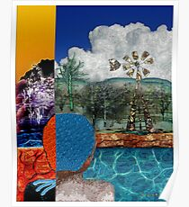 Blue Bathing Cap Poster