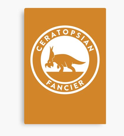 Ceratopsian Fancier Print Canvas Print