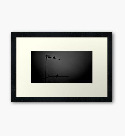Neighbours in Grey Framed Print