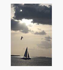 sunset sail Photographic Print