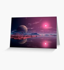 Alien Dawn Greeting Card