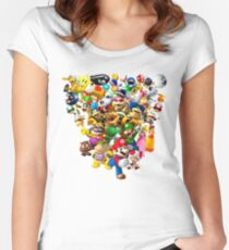 Mario Bros - All Star Women's Fitted Scoop T-Shirt