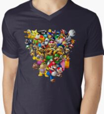 Mario Bros - All Star Men's V-Neck T-Shirt