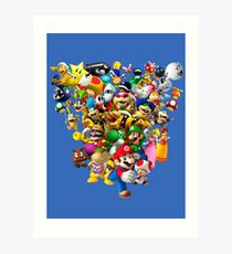 Mario Bros - All Star Art Print