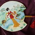 Japanese Decorated Fan by Cathy Gilday