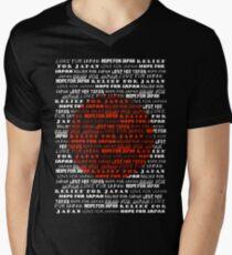 Relief for Japan Mens V-Neck T-Shirt