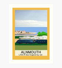 Alnmouth Poster Art Print
