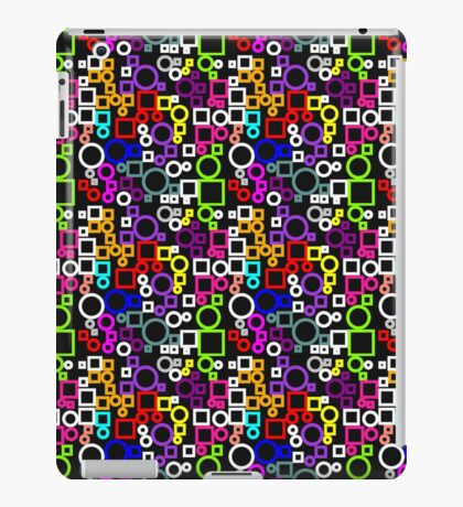 Happy Circles and Squares iPad Case/Skin