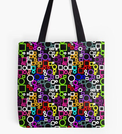 Happy Circles and Squares Tote Bag