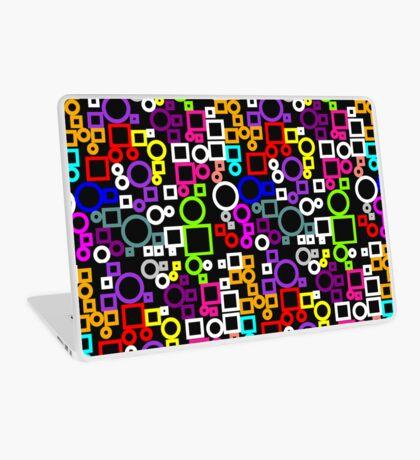 Happy Circles and Squares Laptop Skin