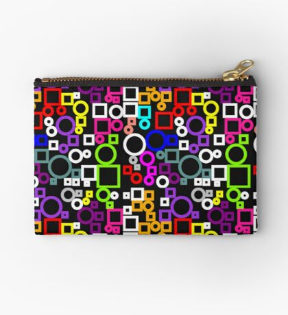 Happy Circles and Squares Zipper Pouch