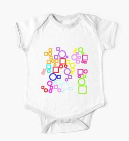 Happy Circles and Squares Kids Clothes