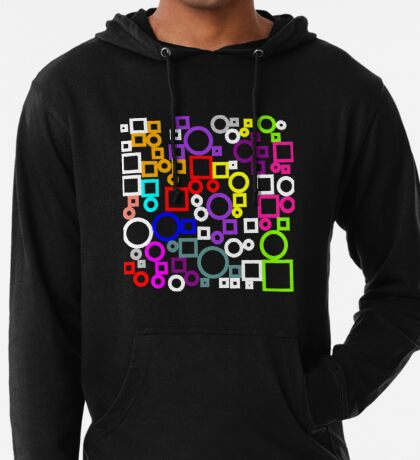 Happy Circles and Squares Lightweight Hoodie