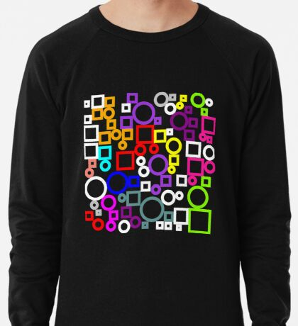 Happy Circles and Squares Lightweight Sweatshirt