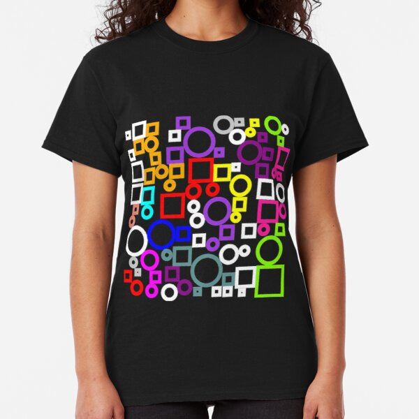 Happy Circles and Squares Classic T-Shirt
