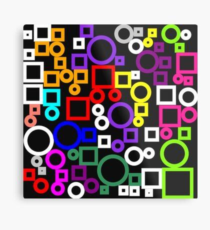 Happy Circles and Squares Metal Print