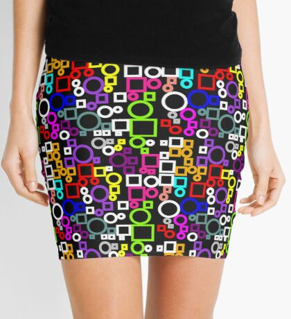 Happy Circles and Squares Mini Skirt