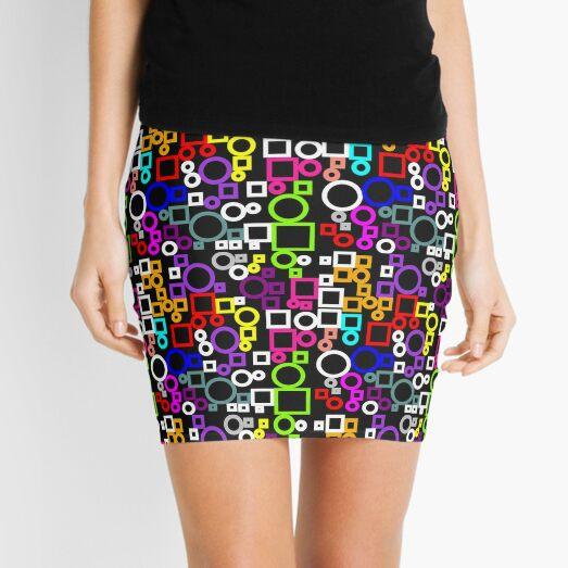 Happy Circles and Squares Mini Skirt