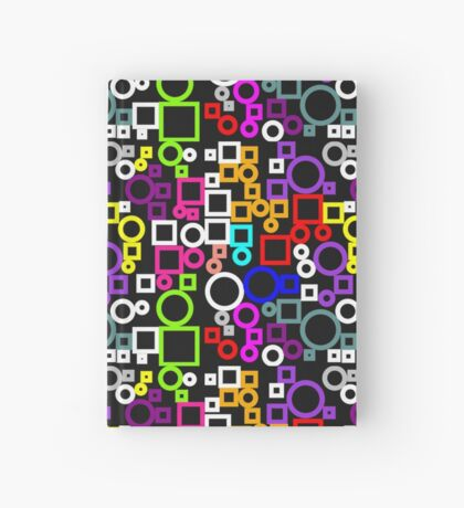 Happy Circles and Squares Hardcover Journal