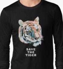 Tiger No.2 SAVE THE TIGER Long Sleeve T-Shirt