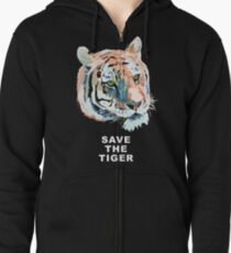 Tiger No.2 SAVE THE TIGER Zipped Hoodie