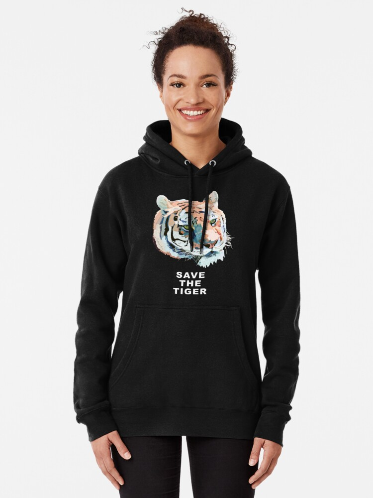 Alternate view of Tiger No.2 SAVE THE TIGER Pullover Hoodie
