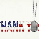 Military Thank You by Maria Dryfhout