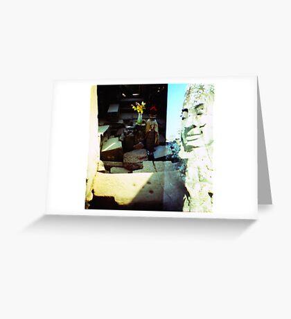 in the sun, siem reap, cambodia Greeting Card