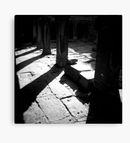 pillars, siem reap, cambodia Canvas Print