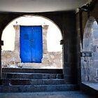 Cusco Blue Door by Escott O. Norton