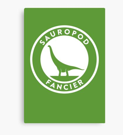 Sauropod Fancier Print Canvas Print