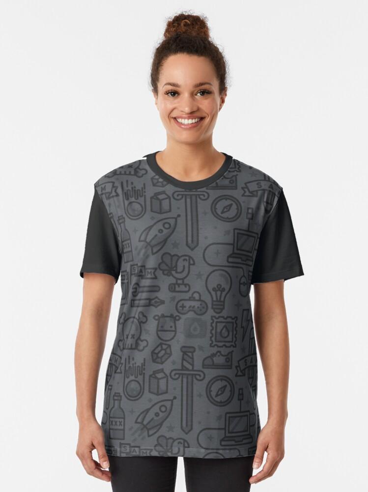 T-shirt graphique ''Geek': autre vue