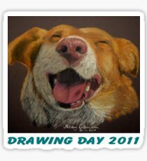 The Little Dog Laughed for Drawing Day 2011 Sticker