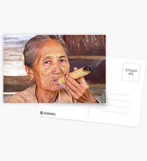 Cheroot Smoking - Bagan, Myanmar Postcards