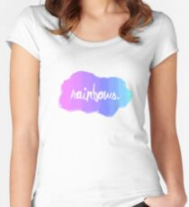 Simple and random Rainbow design. Women's Fitted Scoop T-Shirt