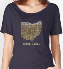 Drink Local - Ohio Beer Shirt Women's Relaxed Fit T-Shirt
