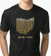 Drink Local - Ohio Beer Shirt Tri-blend T-Shirt