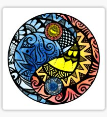 Yin Yang Fire and Ice Tangle Sticker