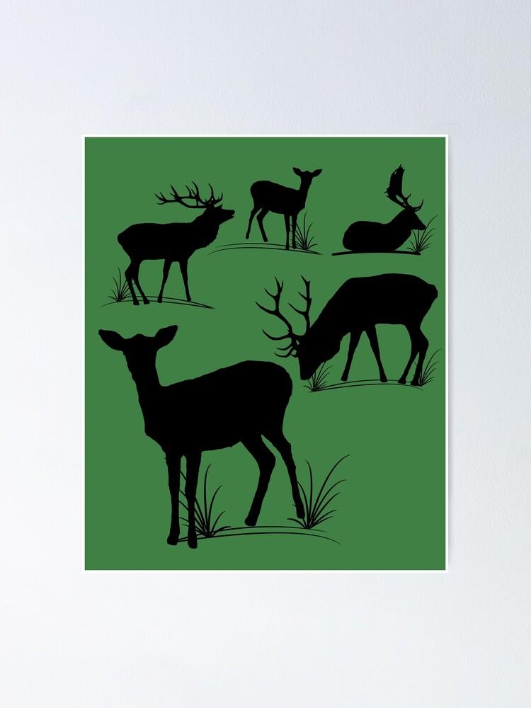 Alternative Ansicht von Hirsch, Reh, Rotwild, Damwild, Tiere, Hirsche, Rehbock, Jagd, Geweih Poster