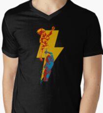 AC DC thunderbolt Men's V-Neck T-Shirt