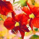 Copy of Clematis - orange pink and yellow by Tummy Rubb Studio