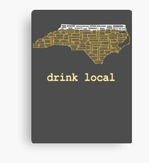 Drink Local - North Carolina Beer Shirt Canvas Print