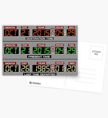 Back to the Future 2 Time Circuits 2015 Postcards