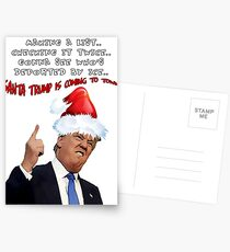 Funny Trump Christmas Making a List   Postcards